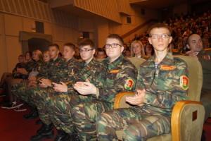Воспитанники кадетского класса СШ № 28 г.Гродно в ходе празднования 75-летия ЗОК