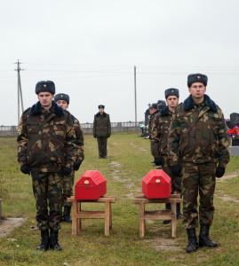 В ходе церемонии перезахоронения ос танков защитников Отечества (4)