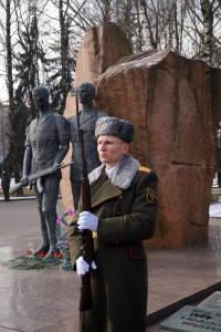 В почетном карауле у мемориала павшим воинам-интернационалистам