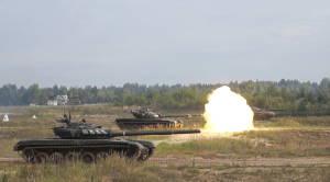 Танки ведут огонь штатным артиллерийским выстрелом (5)