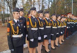 В строю - воспитанники Гродненского областного кадетского училища