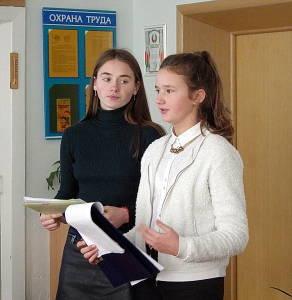 Юные исследователи в ходе работы конференции