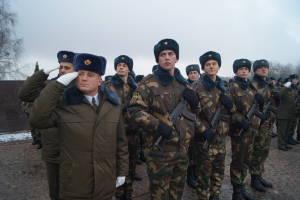 Новобранцы в ходе принятия Военной присяги