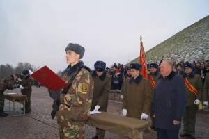 В ходе принятия новобранцами Военной присяги