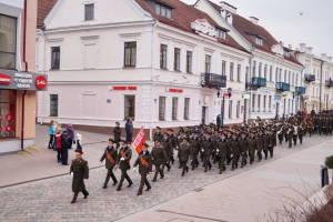 В ходе праздничного шествия войск гарнизона (2)